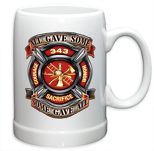 Fire Honor Courage sacrifice 343 badge German Beer Steins