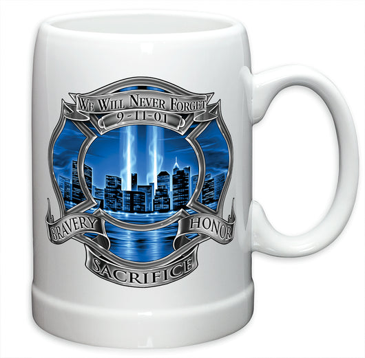 911 Firefighter Blue Skies German Beer Steins