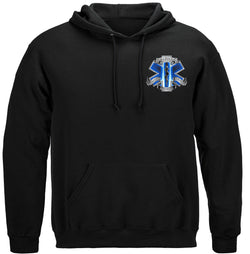 911 EMS Blue Skies We Will Never Forget Hooded Sweat Shirt