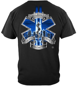 911 EMS Blue Skies We Will Never Forget T-Shirt