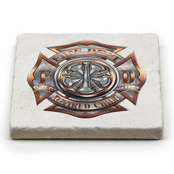 Firefighter Retired Chief Coaster