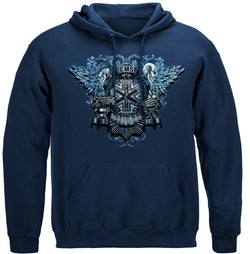 EMS Skull Wings Full Hooded Sweat Shirt