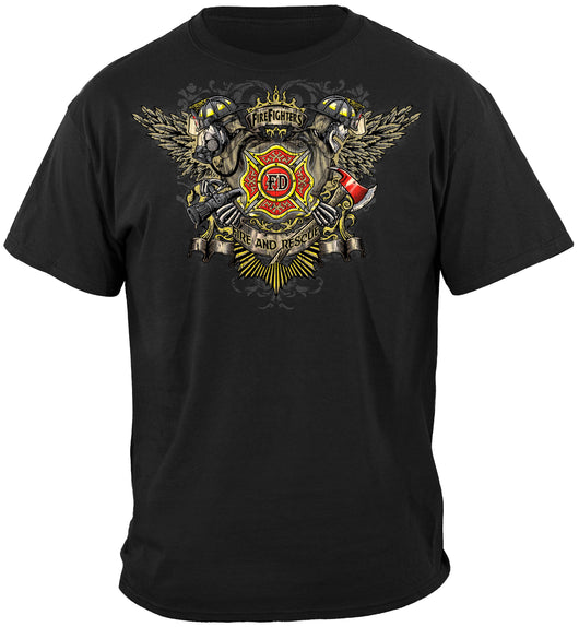 FD Winged Firefighter T-shirt