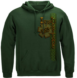 Irish EMS Gold Cross Hooded Sweat Shirt