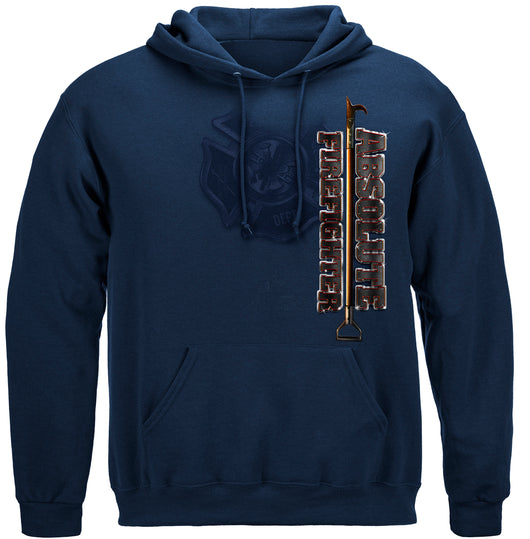 Absolute Firefighter Blue Print Hooded Sweat Shirt