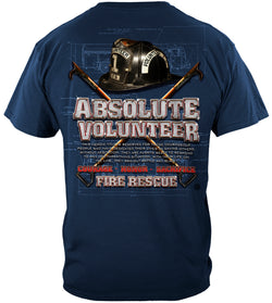 Absolute Volunteer Firefighter Blue Print T-SHIRT