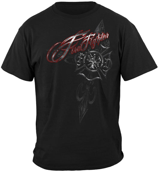 Red/Black Firefighter Foil Tshirt