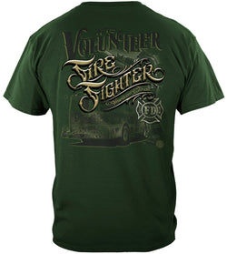 American Classic Volunteer Firefighter Tshirt