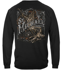 Firefighter St.Micheal'S Protect Us Silver Foil Long Sleeves