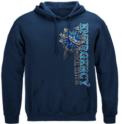 EMS Steel Silver Foil Hooded Sweat Shirt
