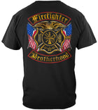 Firefighter Brotherhood Flag Foil Tshirt