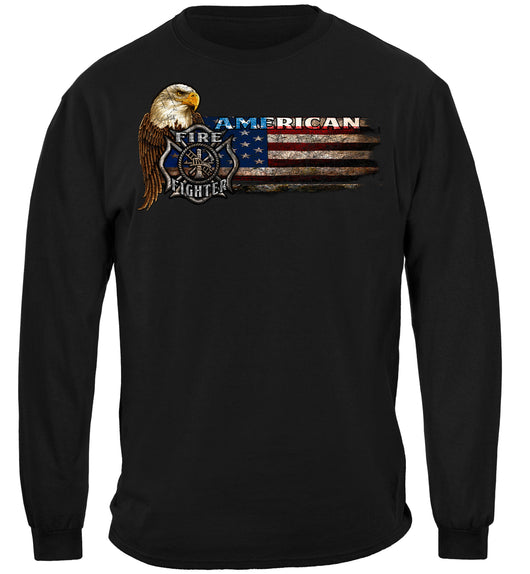 Firefighter Eagle And Flag Long Sleeves