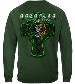 Firefighter Irish Green Foil Long Sleeves