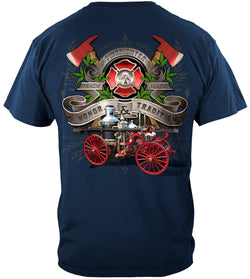 Firefighter Antique Pumper Truck Tshirt