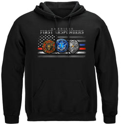FIRST RESPONDER FLAG OF HONOR Hooded Sweat Shirt