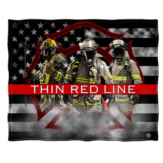 Thin Red Line Firefighter Fleece Blanket