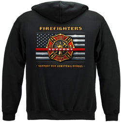 Firefighter Support Hooded Sweatshirt