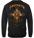 Firefighter Cross Walk Through the Fire Isaiah 43: 2 Long Sleeves