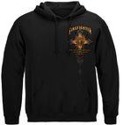 Firefighter Cross Walk Through the Fire- Isaiah 43:2 Hooded Sweatshirt