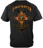 Firefighter Cross Walk Through the Fire  Isaiah 43: 2 T-Shirt