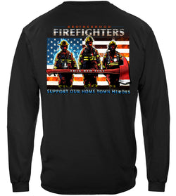 Firefighter Thin Red Line Flag Patriotic Long Sleeve