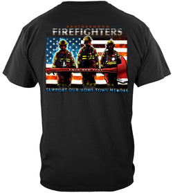 Firefighter Thin Red Line flag Patriotic T-Shirt