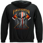 American Pride Firefighter Punisher Hooded Sweatshirt