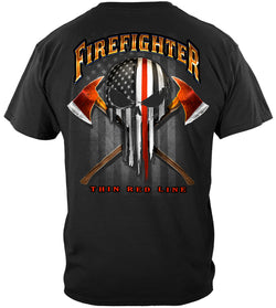 The Punisher American fire fighter shirt