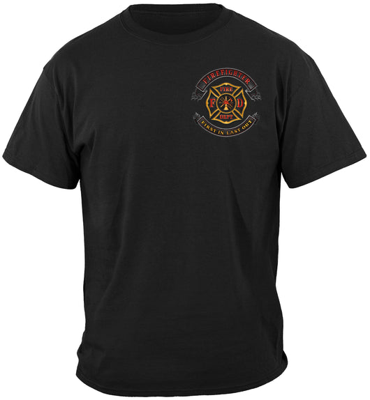 Firefighter  Biker MC T-Shirt