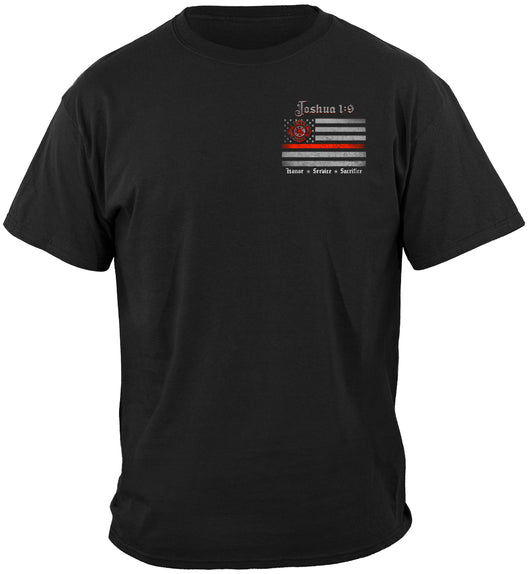 Firefighter joshua 1:9 T-SHIRT