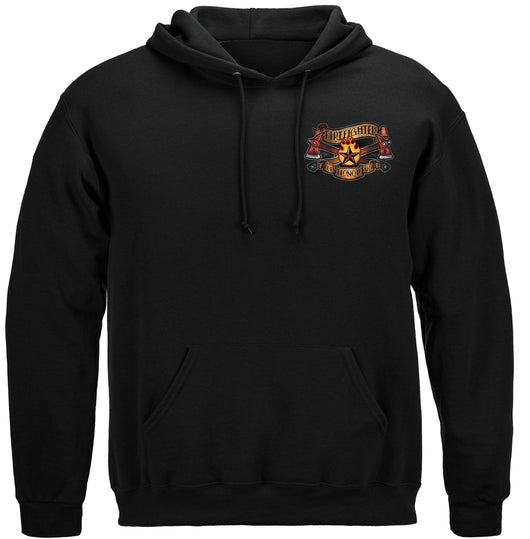 Firefighter Tattoo Vintage Ink Hooded Sweat Shirt