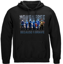 Home of The Free Medical Services Hooded Sweat Shirt