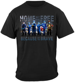 Home of The Free Medical Services T-SHIRT