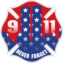 FFC 911 Never Forget Stars and Stripes Decal