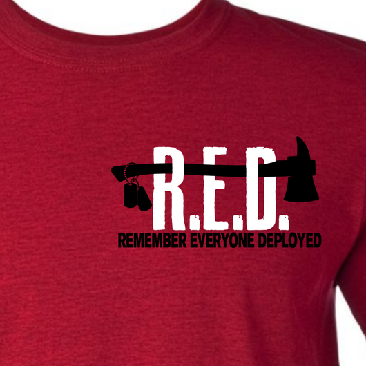 R.E.D. Friday Firefighter Shirt Remember Everyone Deployed
