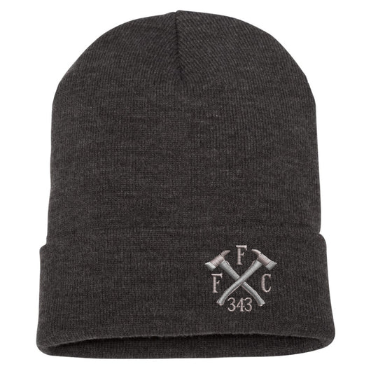 FFC 343 Crossed Axes Cuffed Beanie