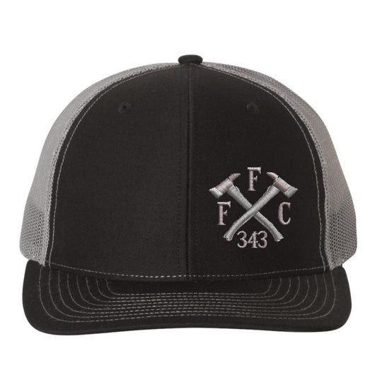 Firefighter FFC 343 Crossed Axes Richardson Trucker Hat