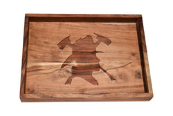 Firefighter with Crossed Axes Bar Tray