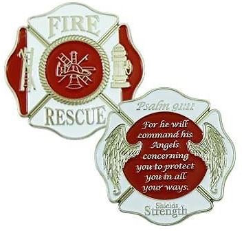 Fire Rescue Maltese Challenge Coin