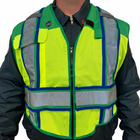 BLANK UltraBright 6-Point Breakaway Public Safety Vest EMS GREEN BLUE