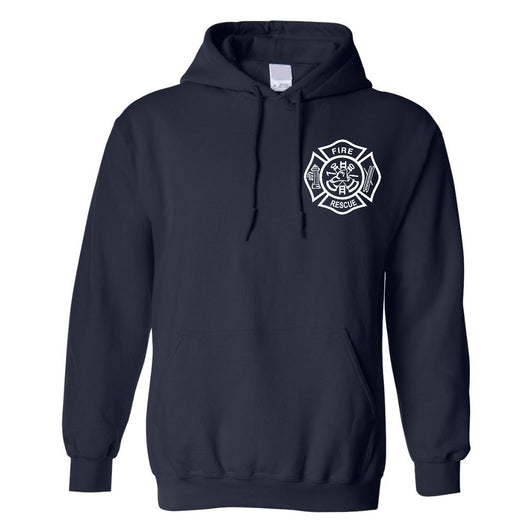 Fire Rescue Hooded Sweatshirt in Navy