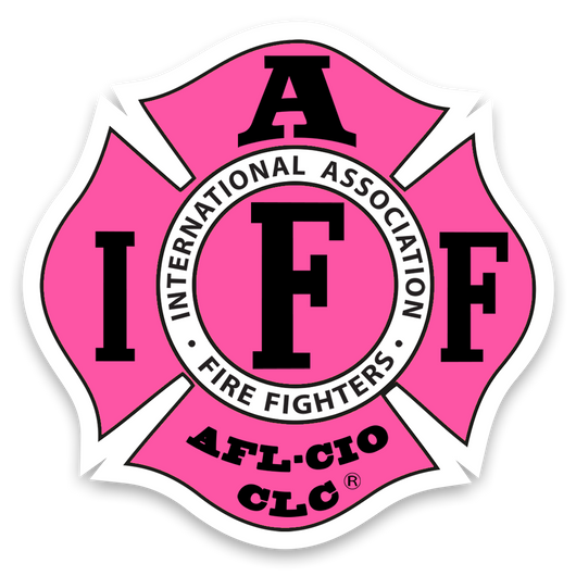 Pink IAFF Decal