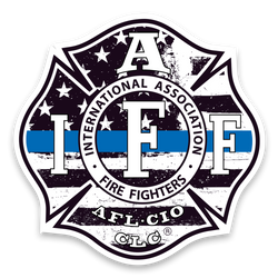 IAFF Thin Blue Line Decal