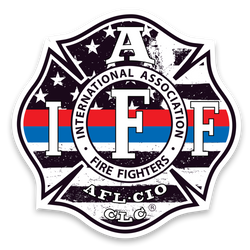 IAFF Thin Red/Blue Line Decal