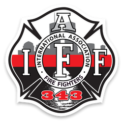 IAFF 343 Thin Red Line Decal