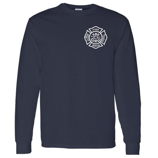 100% Cotton Fire Rescue Duty Shirt in Navy