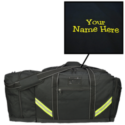 Customized Premium No Logo Turnout Gear Bag in Black