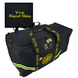Customized Rolling Turnout Gear Bag in Black