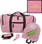 Customized Firefighter Gear Bag SCBA and Strap Package in Pink