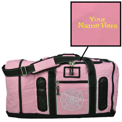 Customized Quad Vent Turnout Gear Bag in Pink